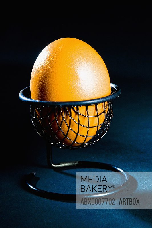 Close-up of an egg in an eggcup
