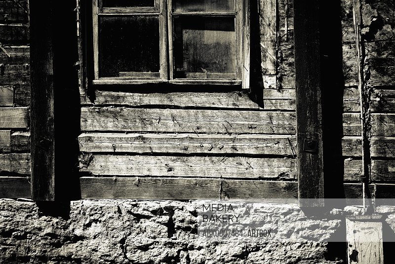 Weathered window of a house