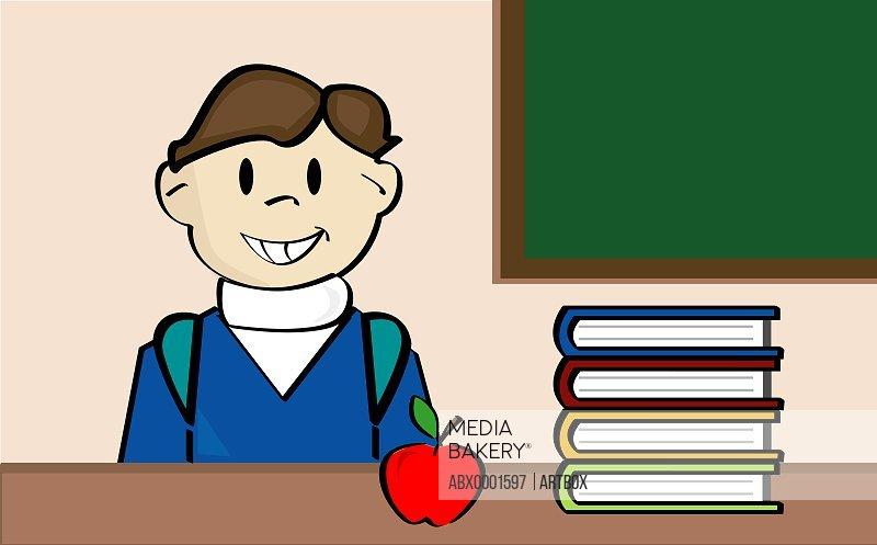 Boy sitting in a classroom