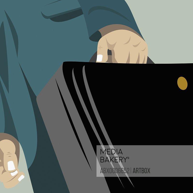 Businessman holding a briefcase