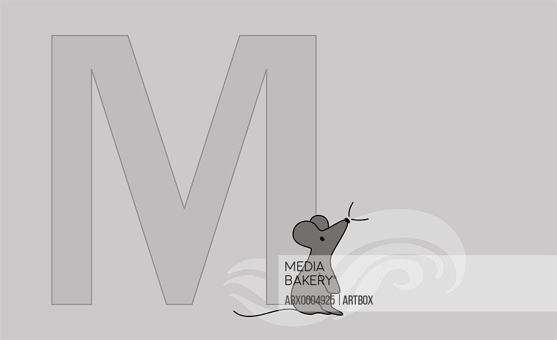 The letter M with a mouse