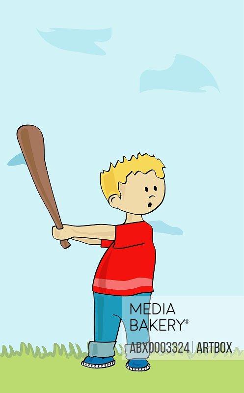 Boy with a baseball bat