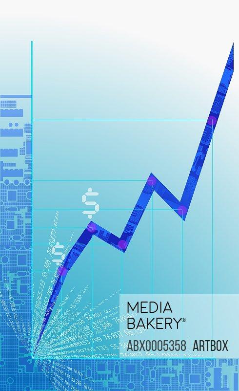 Close-up of a line graph