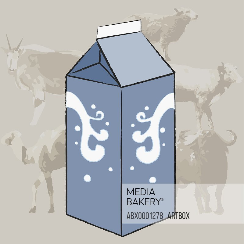 Close-up of a milk carton