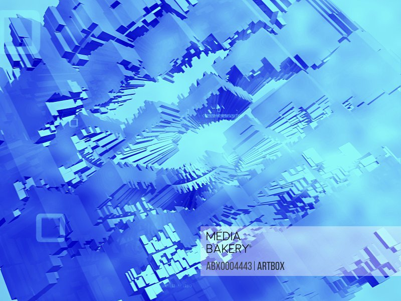 3-d pattern on a blue background