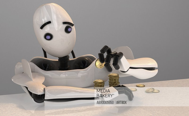 Robot counting coins