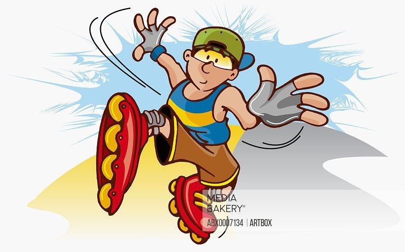 Boy skating