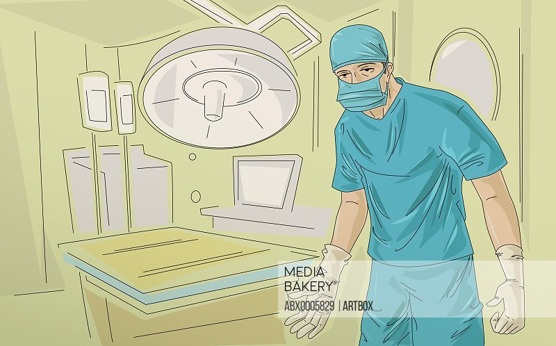 Portrait of a surgeon standing in an operating room