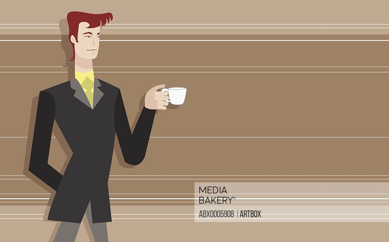 Businessman holding a cup of tea