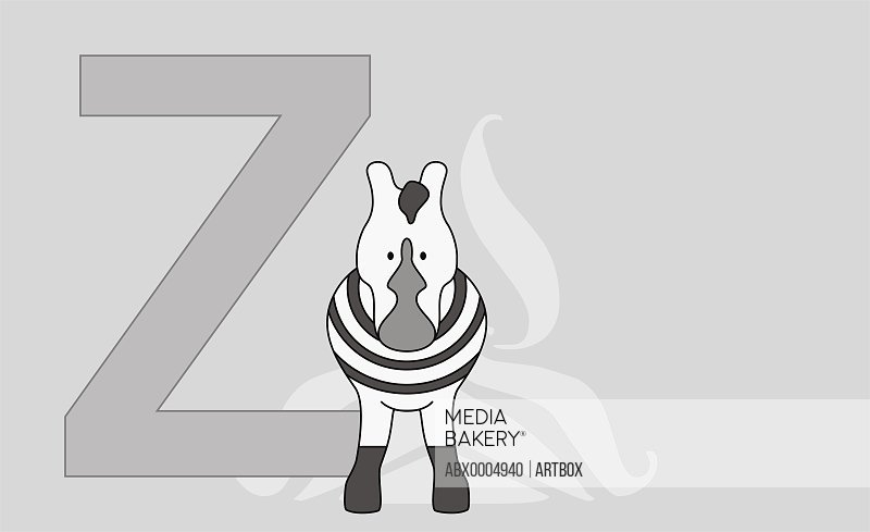 The letter Z with a zebra