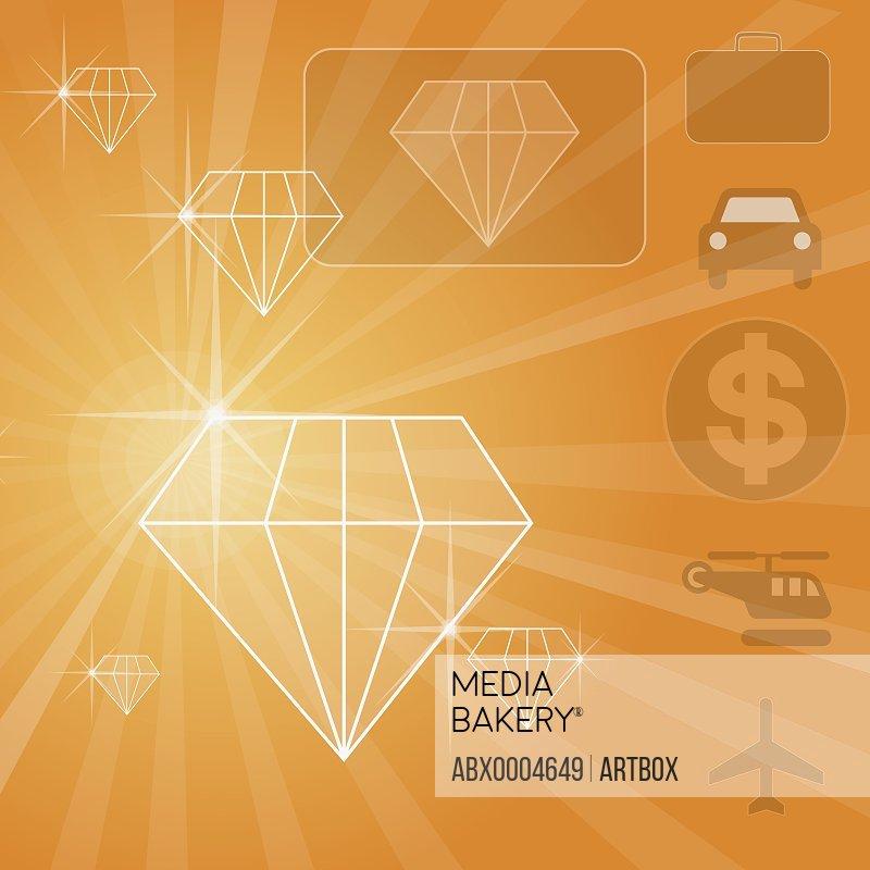 Close-up of diamond shaped diagrams