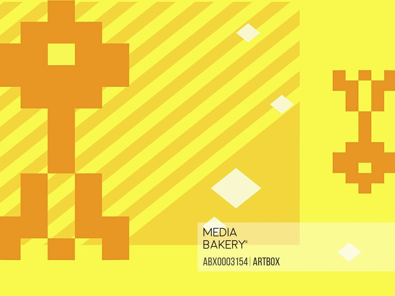 Abstract design on a yellow background