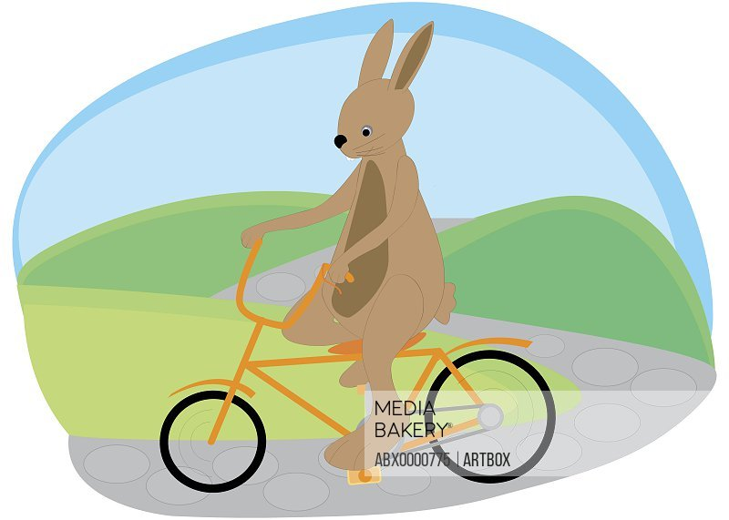 Mouse riding a bicycle