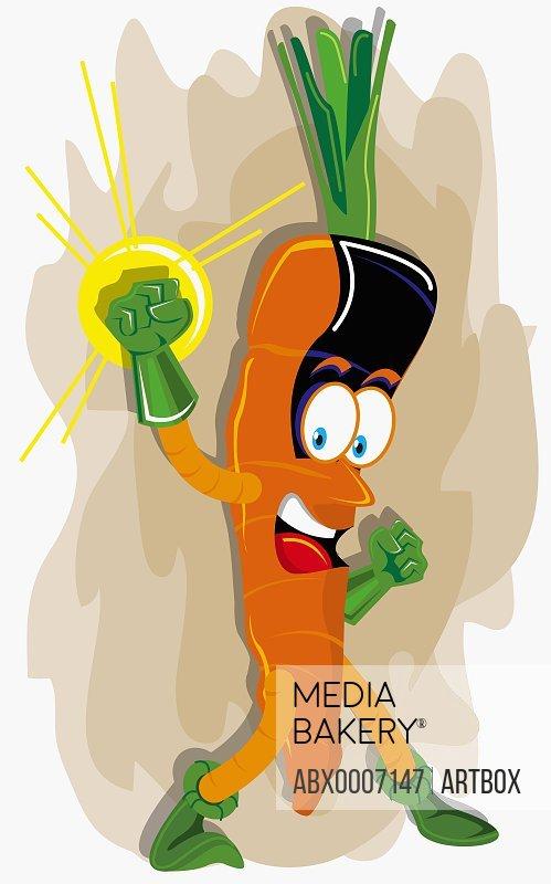 Carrot representing a human