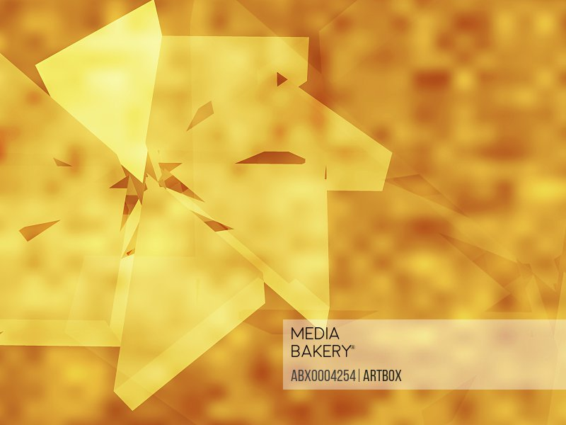 Abstract pattern on a yellow background