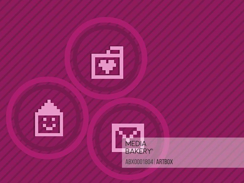 Three computer icons
