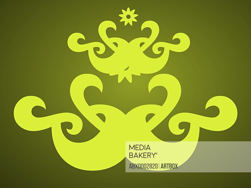 Abstract design on a green background