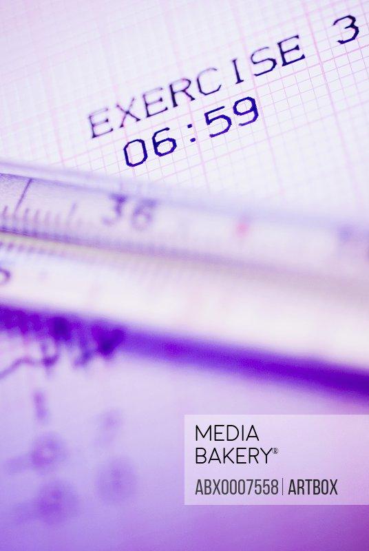 Close-up of a medical report