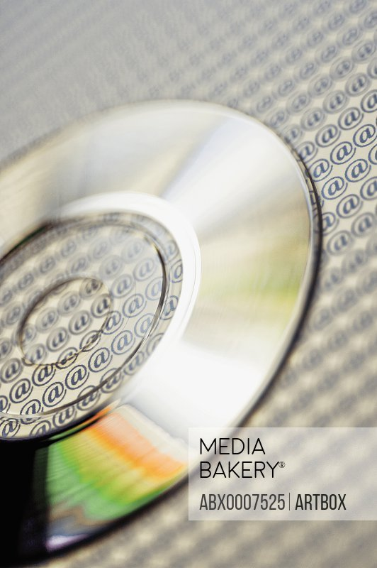 Close-up of a compact disc