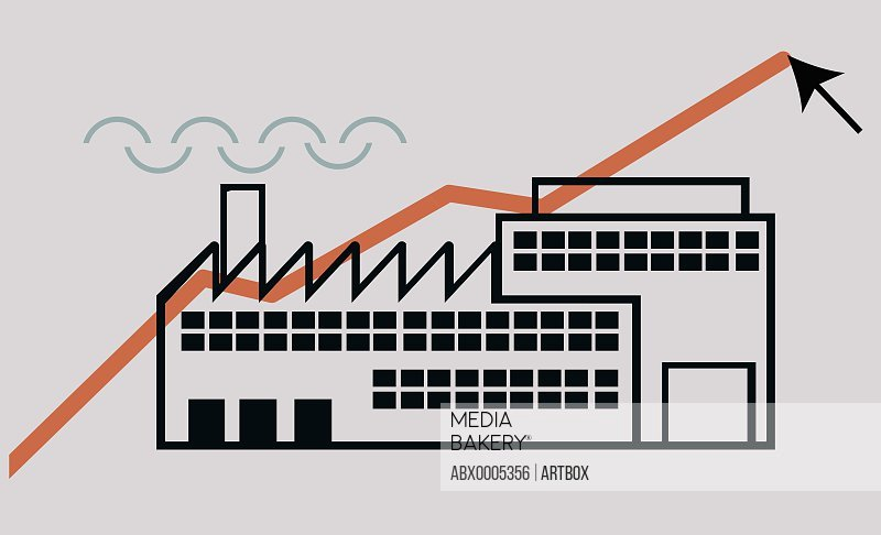Close-up of a factory