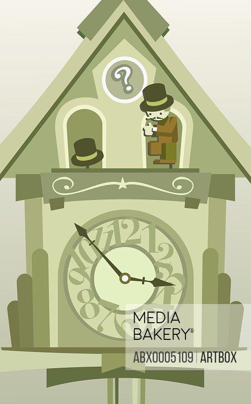 Man on a cuckoo clock