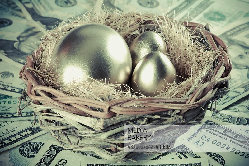 Golden eggs in a bird's nest