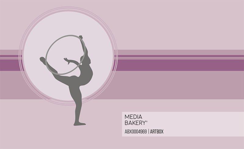 Gymnast performing with a plastic hoop