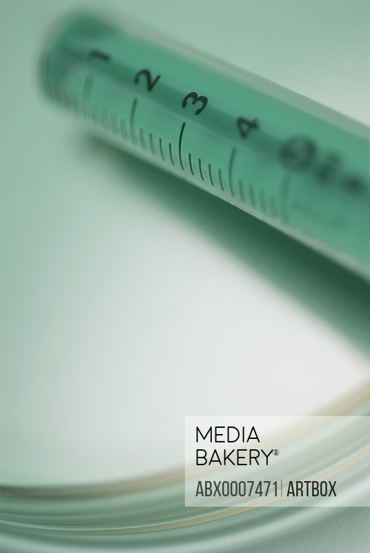 Close-up of a medical injection