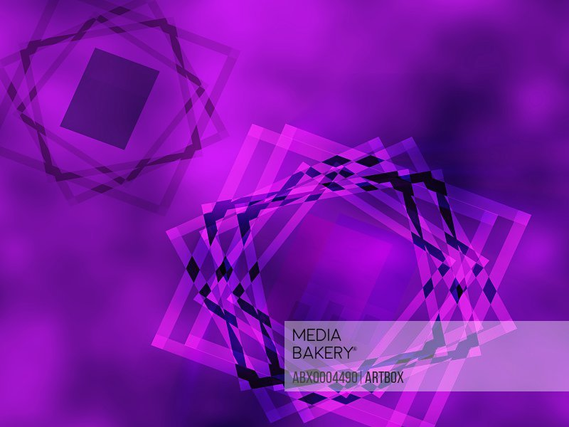 Square pattern on a purple background