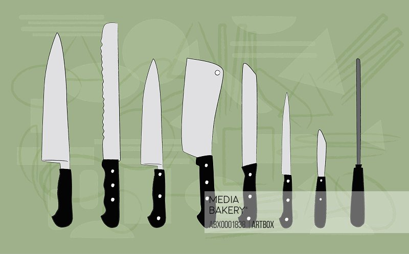 Close-up of assorted kitchen knives