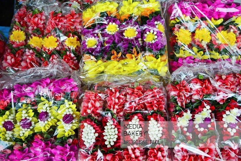 Flowers at flower shop, Bangkok, Thailand