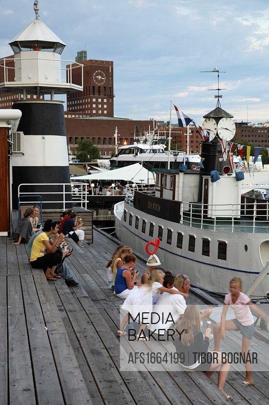 Norway, Oslo, harbour, people, leisure