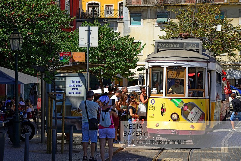 Lisbon Portugal Tram 28 Trolley Transportation.