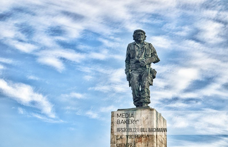 Santa Clara Cuba statue and grave site of Che Guevara the hero from Revolution from war.