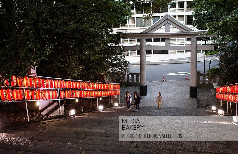 Access to HieJinja shrine, Nagata-cho Tokyo city, Japan, Asia