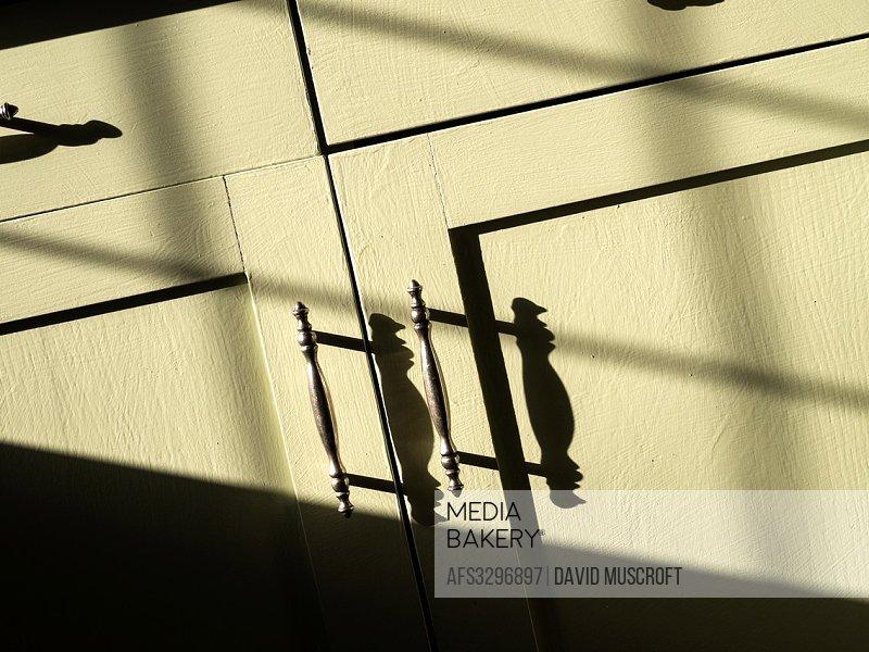 door handles in sunlight.