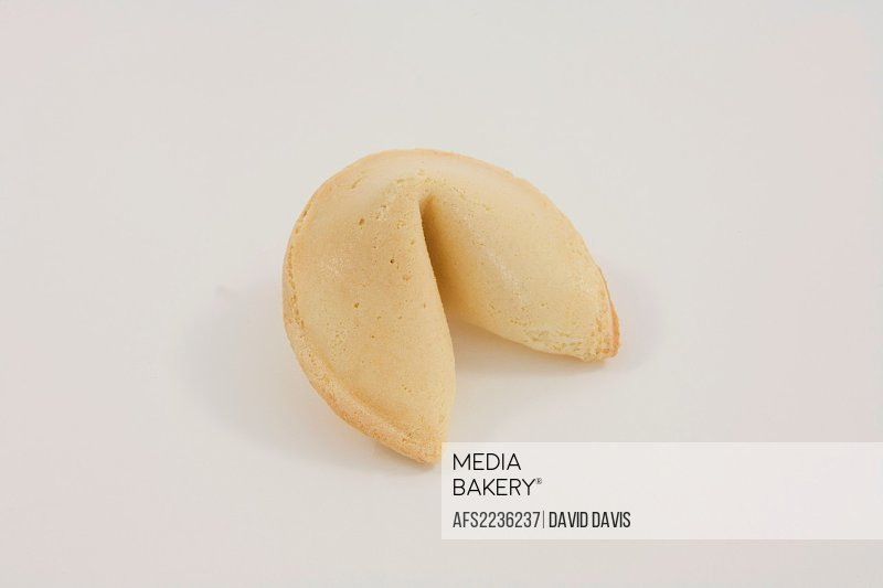 Chinese Fortune Cookie on white background