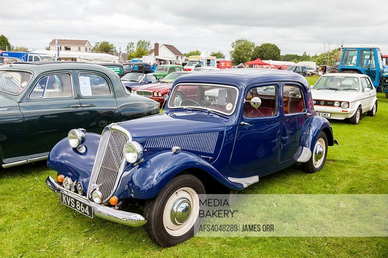 1952 Citroen Traction Avant. This model was built from 1934 to 1957. The Traction Avant was one of the first cars to have front wheel drive and separa...