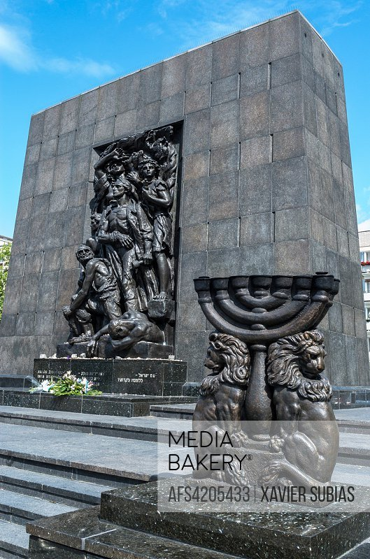 Monument to the Ghetto Heroes, Warsaw, Poland.