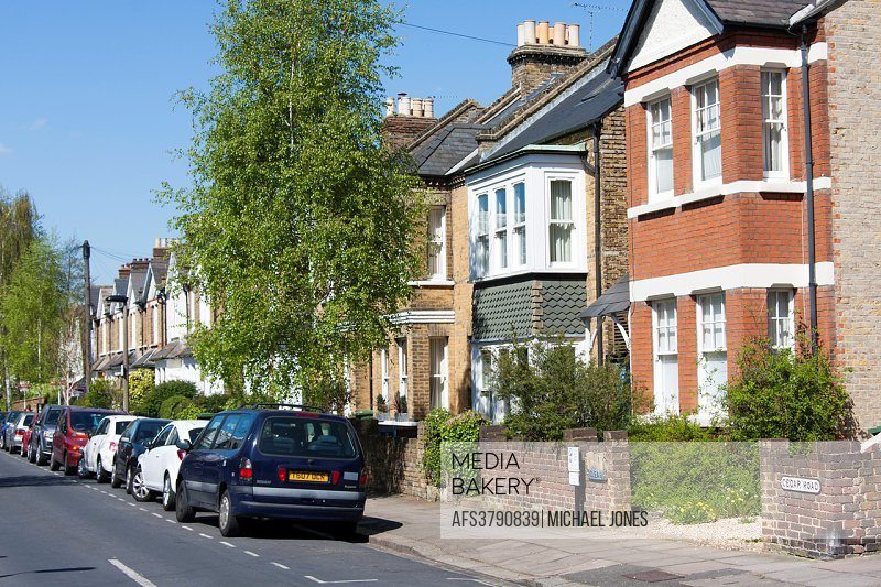 Residential street in suburban London