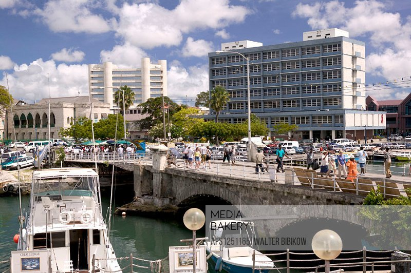 Barbados, Bridgetown: The Careenage Inner Harbor, Daytime
