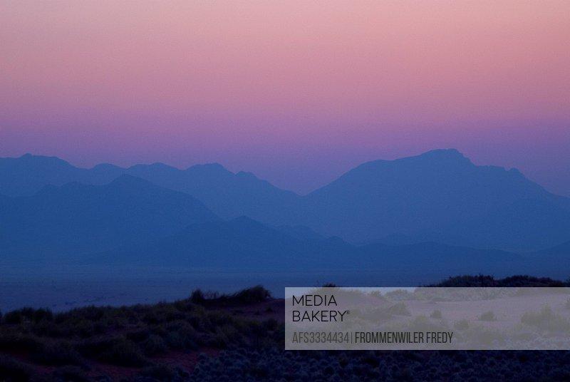 Africa, blue hour, Namibia, sundown, Wolwedans, desert,