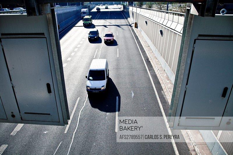 M-30 highway in Madrid, Spain