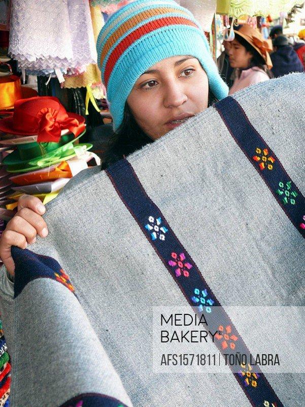 Woman selling blanket
