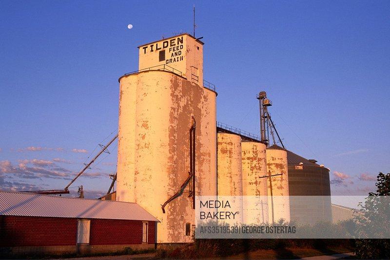 Grain elevator, Tilden, Nebraska.