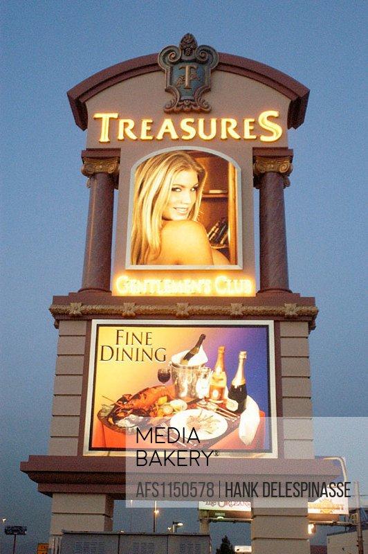 Treasures gentlemen´s club. Las Vegas. Nevada, USA