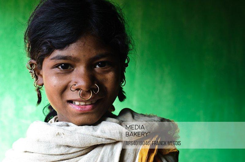 Girl belonging to the Dongriya Kondh tribe ( Odisha state, India)