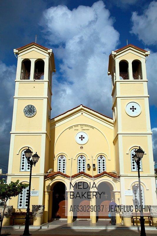 Greece, Ionian, Kefalonia Lixouri, church