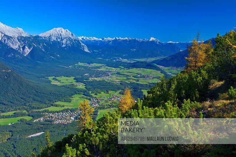 Austria, Europe, Tyrol, Tirol, Mieming, chain, plateau, Obsteig, Simmering, Simmeringalm, Obsteig, Mieming, Telfs, Mösern, Inntal, rest, rest, Karwend...