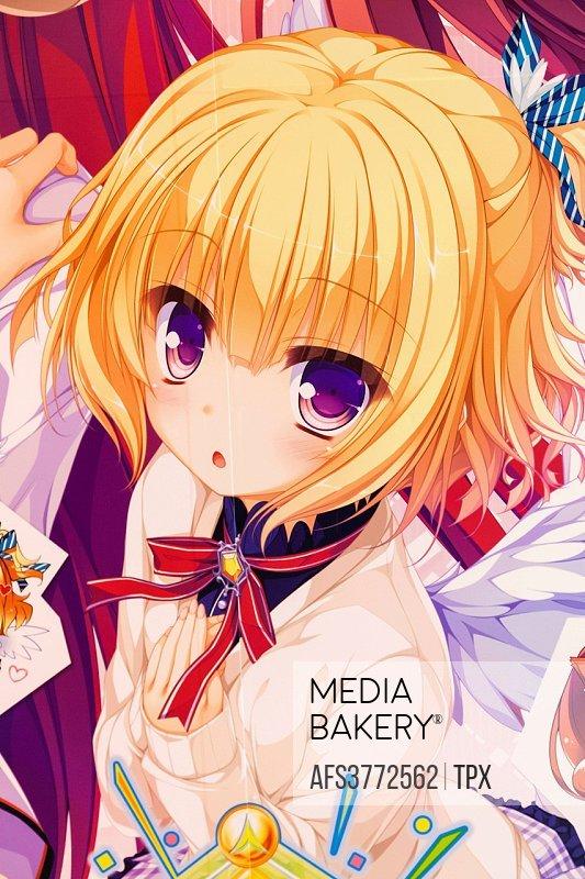 Japan, Honshu, Tokyo, Akihabara, Artwork depicting Anime Character